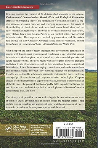 Environmental Contamination: Health Risks and Ecological Restoration