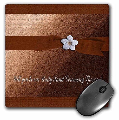 3drose LLC 20,3x 20,3x 0,6cm Maus Pad, Einheit Sand Zeremonie Sponsor, Herbst Band mit Blume auf Pfirsich (MP _ 43424_ 1)