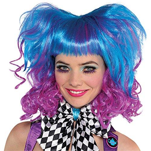 Verrückter Hutmacher Blaue Perücke Damen