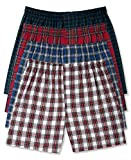 Hanes Men's Boxer Pack with Elastic Waistband (XX-Large, 4 Pack Colors May Vary)