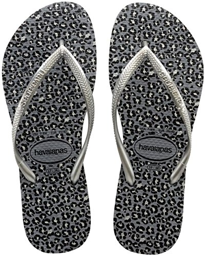 Havaianas - Slim Animals - Tongs - Femme Multicolore (Steel Grey 5178)