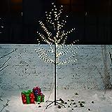 VINGO® LED Kirschblütenbaum Weihnachtsbaum Blütenbaum Lichterbaum Weihnachtsbeleuchtung Hoch 150cm Warmweiß Lichterkette für Innen und Außen