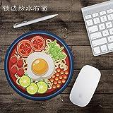 @A Office Alfombrillas De Ratón Alfombrilla Gaming Impermeable, Lindo Mouse Pad, Edge Engrosamiento De La Sopa De Fideos, Ronda La Originalidad De La Personalidad.