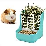 DEDC Alimentador de Heno, Doble Uso para Hierba y Comida, para Animales Pequeños, Conejos, Chinchillas, Cobayas, Cuencos 2 en