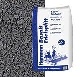 Basalt Edelsplitt Anthrazit 2-5 mm 25 kg Sack - Zur dekorativen, kreativen und individuellen Gartengestaltung