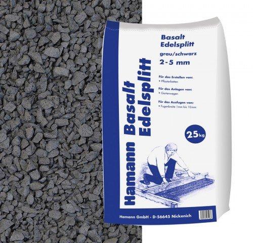 fugensplitt anthrazit Hamann Mercatus GmbH Basalt Edelsplitt Anthrazit 2-5 mm 25 kg Sack - Zur dekorativen, kreativen und individuellen Gartengestaltung