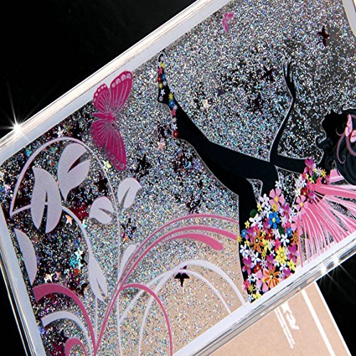 iPhone SE Hülle Glitzer,iPhone SE Hülle Hard,iPhone SE Hülle Clear,iPhone SE Transparent Crystal Clear flüssigkeit Case Hülle Klare Ultradünne Transparente Gel Schutzhülle Durchsichtig Rückschale Etui Girl Series 5