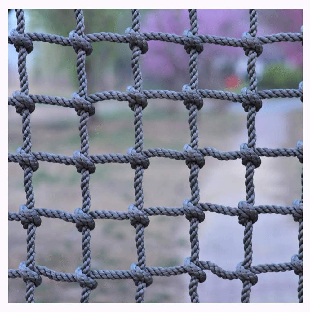 """Climbing Netting,Climbing Net for Adults 8ft Climbing Kids Climb Wall Cargo Playground Rock Tree Adult 8x8 Nylon Rope Large Play Indoor Giant Mesh Heavy Duty Climbing Net Nets Netting Outdoor  ★Climbing Net Material: polyamide fibre. ★Net Climbing Wall Characteristics: Elastically extensible ability of small, weather resistant, wear resistant, long service life,environmentally friendly, non-toxic, quality assurance.This material can change color by itself. ★Climbing Cargo Net Mesh size*rope diameter: 15cm*16mm(6""""*5/8""""),20cm*18mm(39/5""""*7/10""""),25cm*20mm(49/5""""*4/5"""").Length*width: please make purchase according to your actual needs.We have any other size (rope diameter, mesh, length * width) rope net, support customization.If you have any questions or needs, please contact us. 1"""