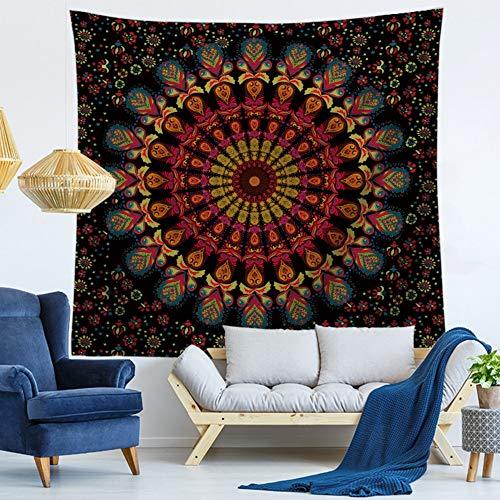 Tapiz,Colgar En La Pared La Moda Vintage Patrón Mandala De Elefantes,Art Home...