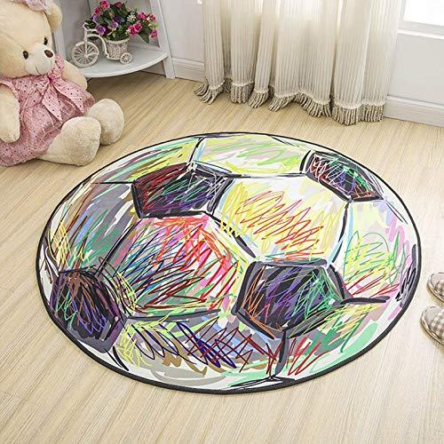 QBASA Runder Teppich-Karikatur-Boden-Matten-hängendes Korb-Schwenkerkissen, Kind-kletternde Spiel-Matten-Yoga-Matte, rutschfeste