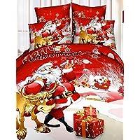 GAOL, quattro pezzi tuta, copripiumino Natale insieme 100% cotone regalo di Natale Babbo Natale insieme dell'assestamento ,