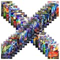 Jeux de Cartes 100 Cartes Pokemon PCS Style Carte Holo EX Full Art 59 Cartes EX 20 Cartes Mega EX 20 Cartes GX 1 Casse-tête Energy Card Fun