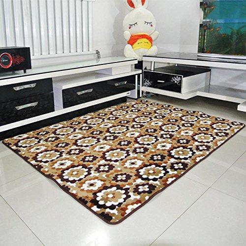 kooco rutschsicheren Haarverdichtung Coral Fleece Teppich für Wohnzimmer Schlafzimmer Esszimmer Home Decor Boden Teppich Größe 40* 6050* 8060* 9080* 120cm, Polyester, 2, 60 x 90 cm (Teppich 1702)
