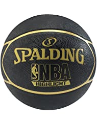 Spalding NBA Highlight Outdoor Balón de baloncesto, Unisex adulto, Negro / Oro, 7