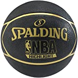Spalding Ball NBA Highlight Outdoor, Schwarz/Gold, 7, 3001550019417
