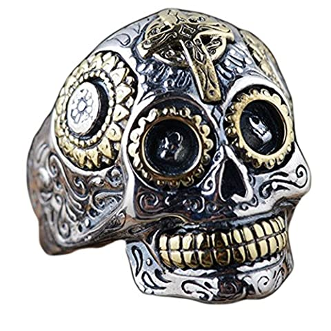 SaySure - 925 sterling silver jewelry skull rings (SIZE : 11)
