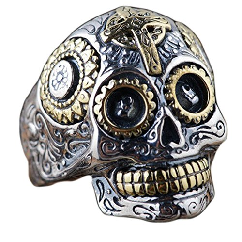SaySure - 925 sterling silver jewelry skull rings Ring Size 11 Silver
