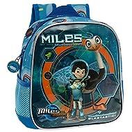 Miles dans l'Espace Sac à Dos Crèche et Maternelle Set de Sacs Scolaires, 25 cm, 5,75 L, Bleu