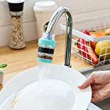 REHTRAD Kitchen tap water filter, adjustable water purifier faucet, with dust removal, rust removal tap water filter (Random