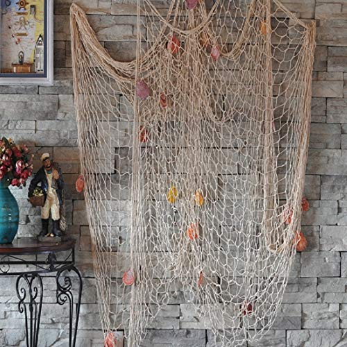 Biutee Dekoration Fischnetz mit Muscheln Maritime Deko Beach - Unter Dem Meer Party Kostüm