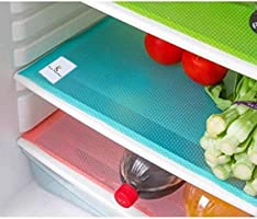 Kuber Industries PVC 6 Piece Refrigerator Drawer Mat Set - Multicolour
