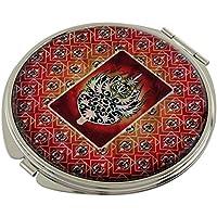 King's madreperla accessory Design compatto, doppia lente d'ingrandimento tascabile trucco Bellezza-Specchio da borsetta