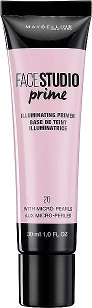 Maybelline New York Master Prime Foundation Primer - 30 ml, Illuminating Primer 20