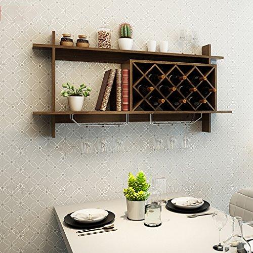 DSC Zahnstange Weinregal Weinschrank Hängen Gitter Rack Weinregal Kreative Wand Rack Wein Regal Lagerregal ( Farbe : B ) (Draht-wand Weinregal)