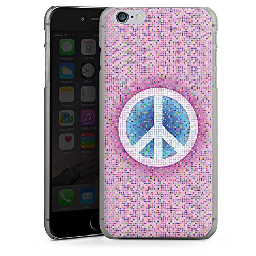 Apple iPhone X Silikon Hülle Case Schutzhülle Peace Hippie Frieden Bunt Hard Case anthrazit-klar