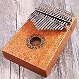 Finger piano Kalimba Thumb piano Pocket piano in mogano, dito percussione tastiera 17tasti con istruzioni e Tune martello, per principianti e amanti della musica Mahogany