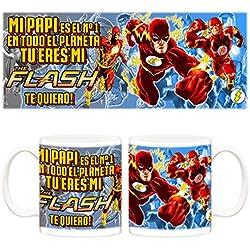 Taza Flash Mi papi es el Nº 1 en todo el planeta