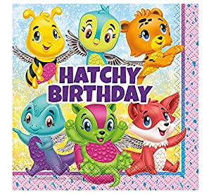 Unique Party 59301 hatchimals - Servilleta de papel, 12,7 cm)