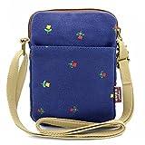 MopaclleGirls Canvas Mini Cute Cross Body bag Cell Phone Purse Wallet PouchShoulder Bag for Women,Lady (Dark Blue)