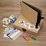 Innocheer Scrapbook con foto Album Storage Box, 80 pagine del mestiere anniversario fai da TE di carta, Album di foto di nozze, con Kit di accessori fai da TE …