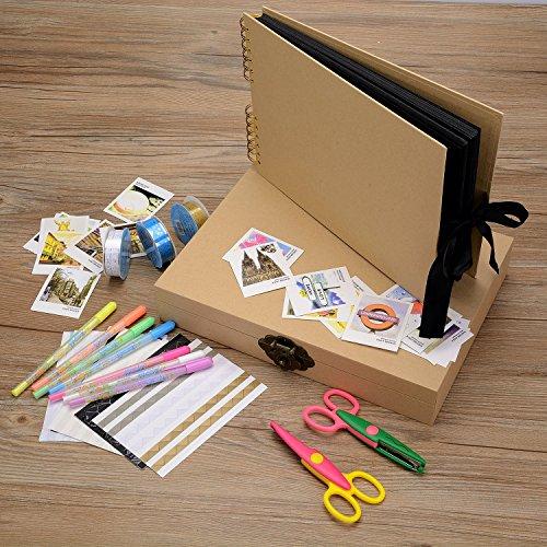 Innocheer álbum de foto, 80 páginas de arte aniversario DIY de papel, álbum de fotos de la boda, con Kit de accesorios de BRICOLAJE