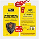 UBON Hammer Proof, Shutter Proof Glass Armor Silicone Coated Screen Protector for Redmi Note 5