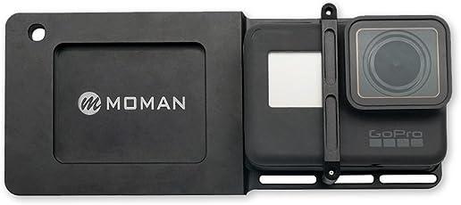 Moman GoPro Gimbal Adapter Mount Platte Halterung Kamerahalterung für GoPro 6/5/4/3/3+ DJI Osmo Mobile 2 Zhiyun Smooth 4 Smooth Q Gimbal Handheld Kamera Stabilisator