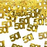 Streudeko Tischdeko gold-farben 50 Geburtstag Jubiläum 50. Geburtstags-Party. Von Haus der Herzen ®