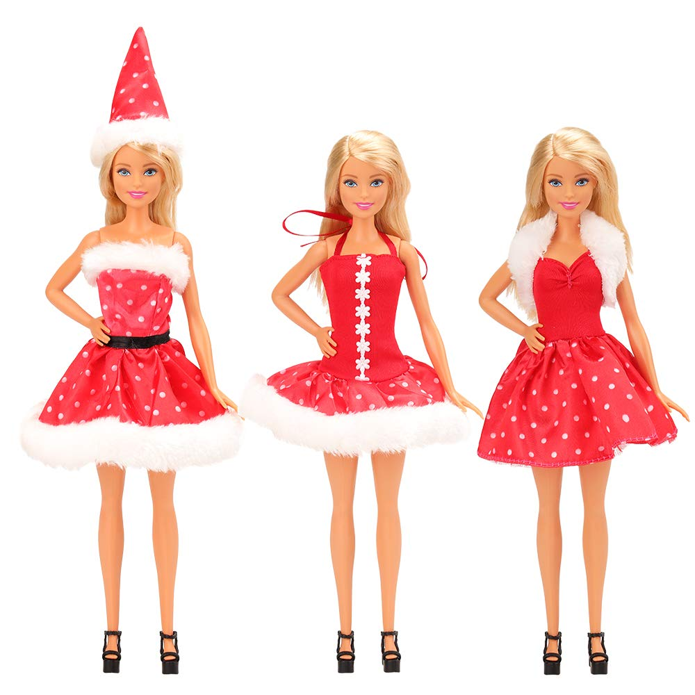 6a6d492b2135 Miunana Abiti Vestiti Ed Accessori Per Barbie Dolls Bambola (Natale ...