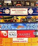 Assortiment d'encens Nag Champa varié 12 boîtes Parfum indien d'intérieur