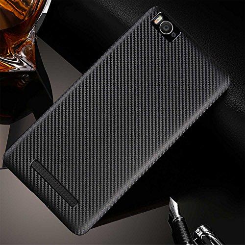Guran® Hülle Für Xiaomi Mi 4i, Hohe Qualität Raffinierte aus Rutschfestem TPU Weich Case Kohlefaser Elastisch Kratzfeste Etui (Schwarzes)