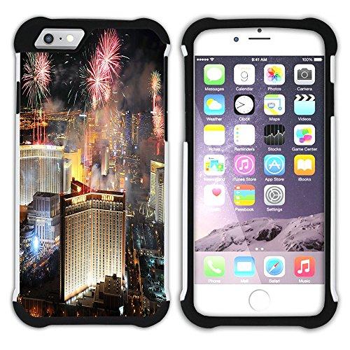 Graphic4You Las Vegas USA United States of America Postkarte Aussicht Hart + Weiche Kratzfeste Hülle Case Schale Tasche Schutzhülle für Apple iPhone 6 Plus / 6S Plus Design #11