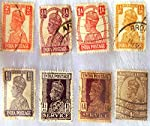 These are extremely rare original Historic British India stamps.The 1911 stamps of King George V were more florid in their design. It is reported that George V, a philatelist, personally approved these designs.The stamps issued in 1911 depicted vario...