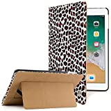 VanGoddy Mary Smart Cover Portfolio Kickstand Smart Case for New Apple iPad 2018 Edition 9.7 inch (Leopard)
