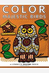 Color Majestic Birds: All-Age Coloring Book in Celebration of Owls, Eagles, Hawks and Birdhouses: Volume 3 (Color Things) Paperback