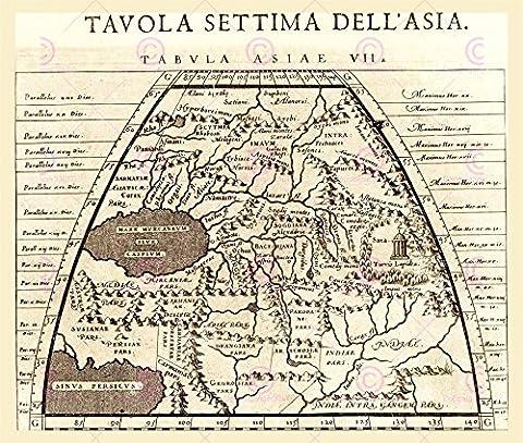 MAP 1620 PORCACCHI PERSIA AFGHAN TURKMEN REPLICA POSTER PRINT PAM0022