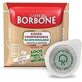 Caffè Borbone Café Dosette Compostable, Emballage Recyclable, Mélange Rouge - 150boissons - Système ESE