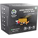 HYP Sugarfree Variety Pack - 8 Bars (2 Oats Brownie+ 2 Espresso+ 2 Berry Burst+ 2 Coconut Almond)