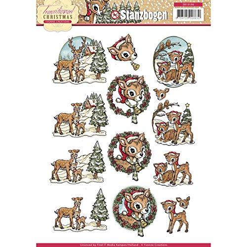 3D-Stanzbogen - Yvonne Creations - Traditional Christmas