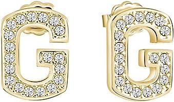 Guess Women's Stainless Steel Diamond G One Stud Earrings - UBE82035